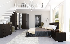 Wallpaper design, house, style, Villa, interior, living space