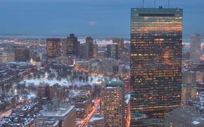 Picture city, the city, USA, Boston, Massachusetts