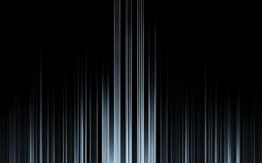 Picture line, white, black background