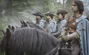 Picture The series, The Musketeers, The Musketeers, Tom Burke, Luke Pasqualino, Howard Charles, Santiago Cabrera