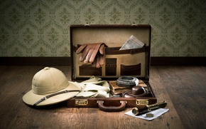 Wallpaper shirt, the camera, romance, spyglass, diaries, journey, suitcase, card, compass, adventure, preparing for the journey, ...