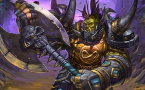 Picture axe, warrior, armor, axe, Orc, wow, Horde, world of warcraft, warrior, ork, timewalker