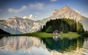 Picture Switzerland, mountain, Alps, Arnisee