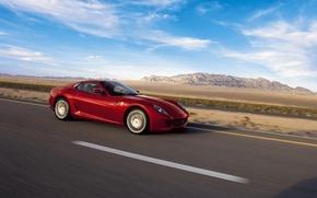 Wallpaper road, the sky, GTB, 599, Ferrari
