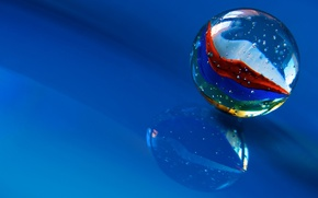 Picture macro, reflection, background, ball, glass bead