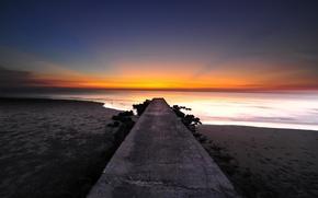 Picture the ocean, dawn, pierce, shore, beach