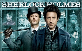 Picture Sherlock Holmes, Jude Low, robert downey jr