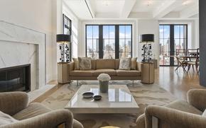 Picture design, style, interior, luxury apartment, metropolis