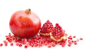 Picture fruit, juicy, garnet, chunks