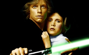 Picture Star Wars, actor, lightsaber, jedi, Luke Skywalker, Princess Leia, mark hamill, Princess Leia Organa, Carrie …