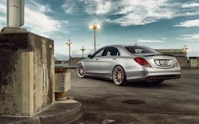 Picture Mercedes-Benz, Matte, Sedan, Silver, Wheels, Outdoor, Rear, S63, ADV.1