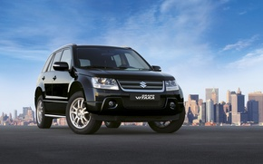 Picture city, the city, black, black, grand vitara