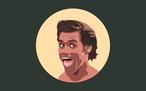 Picture face, minimalism, actor, Jim Carrey, jim carrey