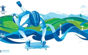 Picture style, sport, Vancouver, vancouver 2010, Olympics 2010, skeleton, Olympic games, skeleton, winter sports