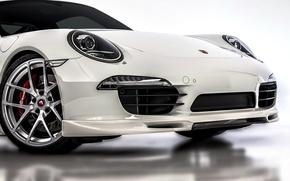 Wallpaper face, 911, Porsche, white, Porsche, bumper, Carrera, 2015, Carrera 4S