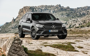 Wallpaper Mercedes-Benz, black, Black, AMG, Mercedes, GLC-Class, SUV, X253