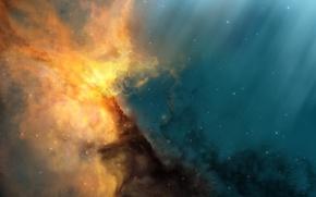 Picture rays, nebula, stars, JoeJesus