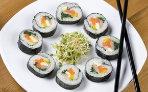 Picture food, sushi, soy, parostky