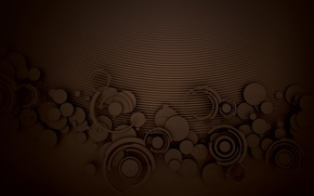 Picture circles, pattern, chocolate