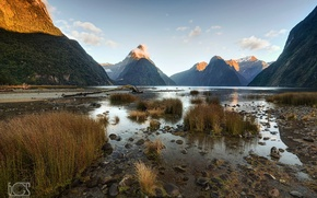 Picture New Zealand, the fjord, South island, Milford Sound, the Fiordland national Park