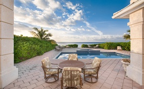 Picture pool, ocean, home, luxury, bahamas