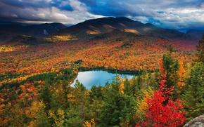 Wallpaper lake, colorful, landscape