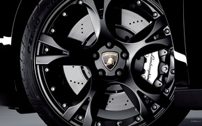 Wallpaper black, Lamborghini, wheel