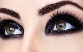 Picture eyes, macro, eyelashes, makeup