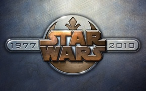 Wallpaper 2010, 1977, texture, Star Wars, metal, star wars, emblem