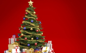 Picture tree, gifts, decoration