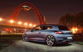 Picture night, the city, engine, speed, Volkswagen, max, the volume, box, sports, mechanics, Volkswagen, Scirocco R, …