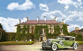 Picture retro, the building, Ireland, mansion, Ireland, Duesenberg, Kilkenny, Kilkenny, 1932 Duesenberg J