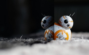 Picture reflection, toy, robot, droid, BB-8