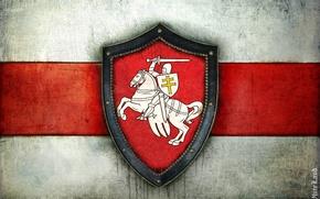 Wallpaper Flag, Chase, Coat of arms, Belarus