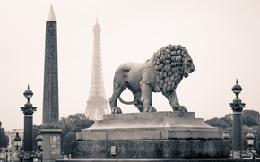 Picture the city, Paris, Leo, statue, France, monuments