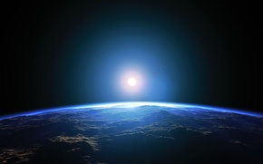 Picture space, light, energy, planet