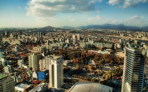 Picture mountains, Clouds, Seoul