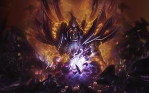 Picture Orc, warcraft, warlock, Gul'dan, warlock, Hearthstone, From roses, SpiritAJ