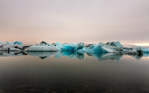 Picture ice, snow, landscape, nature, the ocean, Iceland, icebergs