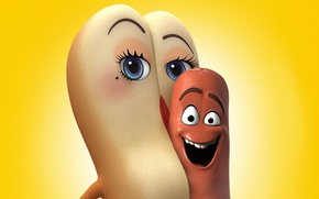 Wallpaper cinema, wallpaper, eyes, smile, food, movie, film, bread, animated film, mouth, official wallpaper, sausage, hot ...