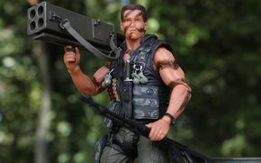 Picture toy, Commando, Arnold Schwarzenegger, ammunition
