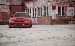 Picture Red, Mitsubishi, Lancer, Red, Lancer, Evolution 9, Mitsubishi, Evolution 9