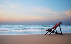 Picture sea, beach, nature, tropics, chair