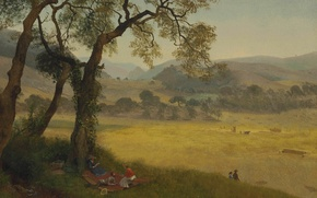 Picture landscape, picture, Albert Bierstadt, Golden Summer Day near Oakland