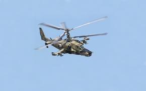 Picture helicopter, Russia, Black shark, shock, Ka-50, single, The Kamov design Bureau, Hokum A