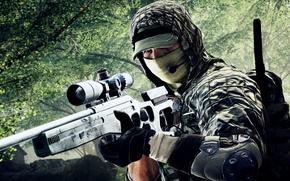 Wallpaper weapons, Battlefield 4, soldiers, background, sniper