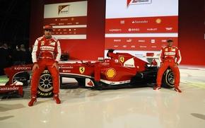 Picture Alonso, Massa, 2013 Ferrari