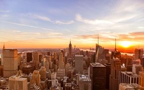 Picture USA, United States, Sunset, New York, Manhattan, NYC, New York City, Skyline, Empire State Building, …