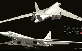 Wallpaper supersonic, TU-160, Tupolev, Blackjack, bomber, strategic