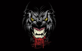 Picture face, background, fangs, grin, Werewolf